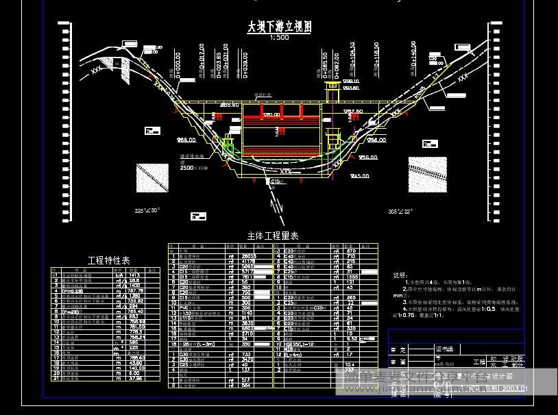 重力坝毕业设计10套,含CAD图纸,计算书等,拍下发送全部