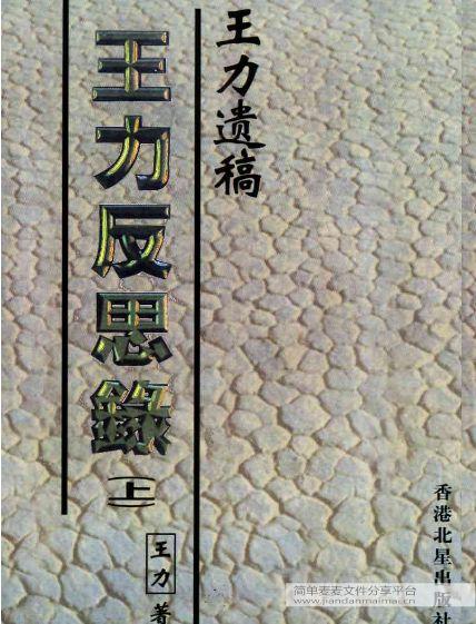 王力反思录(上中下三册)